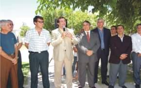 Inauguración de la pavimentación en el Barrio Retiro, de Santa Lucía