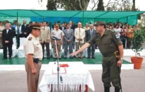 Toma de juramento al nuevo jefe de la X Agrupación San Juan de Gendarmería