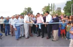 Inauguración de las obras de pavimentación