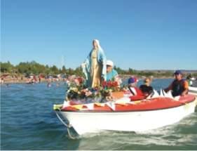 La Virgen encabezó la procesión náutica