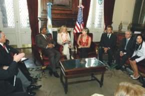 Legisladores argentinos y estadounidenses en la Cámara de Diputados de la Nación