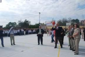 Inauguración del playón polideportivo, con una inversión de $ 1.658.000.-