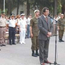 Dirige la palabra el vicegobernador en ejercicio del P.Ejecutivo, José Rubén Uñac