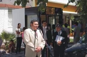 El diputado Roque Elizondo, representante de Chimbas, recordó que presentó un proyecto solicitando la oficina que se inauguraba del Banco San Juan