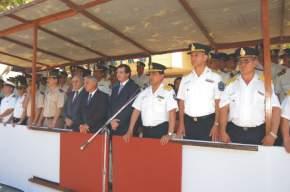 El jefe de la Policia de San Juan, Comisario general R, Miguel González hizo una reseña de su gestión