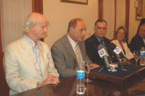 Conferencia de prensa que ofreció el ministro de la Corte Suprema, Eugenio Zaffaroni