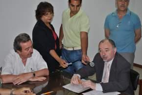 Habla el subsecretario de Medio Ambiente de la Provincia, Lic. Tello, tras la firma del convenio con el decano Bloch