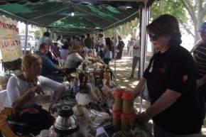 Durante el recorrido por la exposición de Agricultura Familiar en San Martín