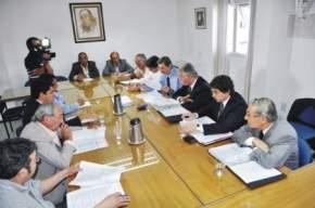 El ministro de Hacienda y Finanzas, Víctor Aldo Molina informó a los legisladores sobre el Presupuesto