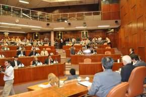 Estuvieron presentes los 34 diputados provinciales electos el 23/10/11