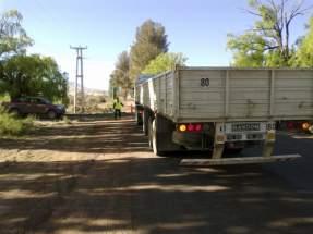 Camiones y vehículos pesados o con cargas peligrosas pasan ahora por el control diario de la patrulla móvil de Barrick