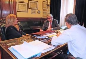Senadores Marina Riofrío, Pichetto y Fernández