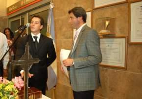 El Dr. Uñac toma juramento a Juan Pablo Ruiz Pontoriero