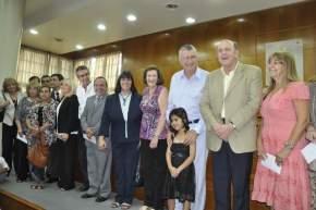 Funcionarios del Ministerio de Educación que asumieron, junto a la ministra Díaz, el gobernador Gioja y el senador Godoy