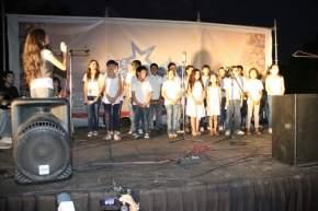 También las expresiones artísticas musicales atraen a los visitantes de la Feria Navideña