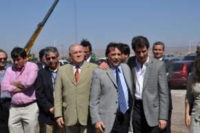El Intendente de Albardón, Juan Carlos Abarca recibió a las autoridades encabezadas por el vicegobernador Uñac