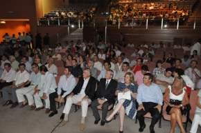 Personalidades del deporte sanjuanino, autoridades, periodistas, dirigentes de entidades deportistas participaron del acto
