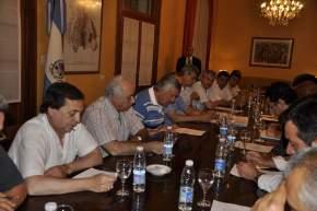 El Gobernador Gioja reunido con los Intendentes municipales