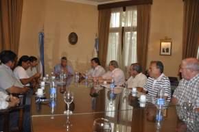Reunión encabezada por el Gobernador Gioja, con representantes de la CGT y la UIA local, por la Promoción Industrial