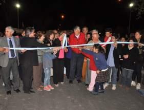 Inauguraci�n de repavimentaci�n de calles internas del B� Aramburu, en Rovadavia