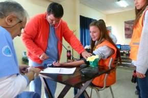 Control médico al llegar a la mina Gualcamayo