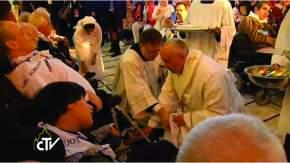 Francisco celebró la misa