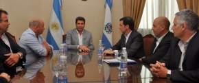 El gobernador Uñac con directivos de Ecogas