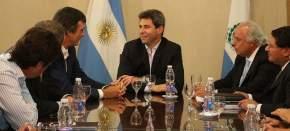 El gobernador Uñac y el vicegobernador Lima recibieron al ministro de Educación y Deportes de la nación, Esteban Bullrich