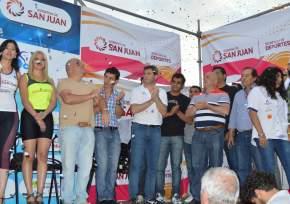 Autoridades en el final de la 35ª Vuelta
