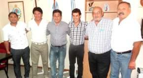 El secretario de Deportes con el intendente de Ullúm, Leopoldo Soler