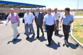 El ministro Sánchez Hidalgo junto a funcionarios de Salud, recorrió dependencias sanitarias
