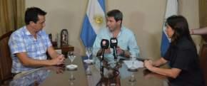 El gobernador Uñac con el ministro de Turismo de la Nación, Marcelo Lastra y la ministra del área sanjuanina, Claudia Grynszpan