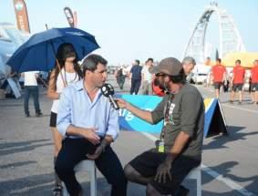Uñac fue entrevistado por la TVP