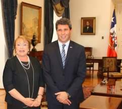 Sergio Uñac invitó a la mandataria chilena a visitar San Juan