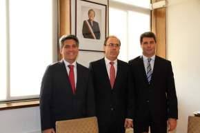 Autoridades de la Región de Coquimbo y el Gobernador de San Juan
