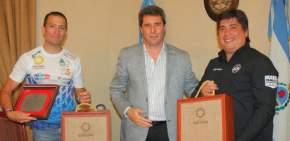 Alberto Puchi Ontiveros y Gabriel Abarca con el gobernador Sergio Uñac