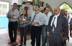 Las autoridades en el santuario del Gaucho José Dolores