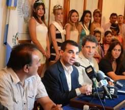 El intendente de Chimbas, Fabián Gramajo, en la presentación del Carnaval en su departamento