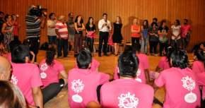 El gobernador Uñac saludó a los artistas