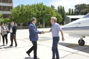 El diputado José Rubén Uñac recibe al ministro del Interior, Rogelio Frigerio