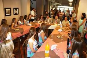 El gobernador Uñac, el vicegobernador Lima, la ministra Grynszpan con las candidatas a Reina Nacional del Sol 2016