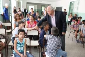 """El vicegobernador Lima en la Escuela """"Juan Crisóstomo Albarracín"""""""