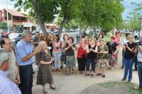 El intendente Gioja inaugura la plaza saludable