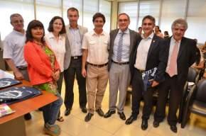 El ministro de Salud, Castor Sánchez Hidaldo, con los intendentes de Rivadavia, Capital y 9 de Julio, y referentes de demás comunas sanjuaninas