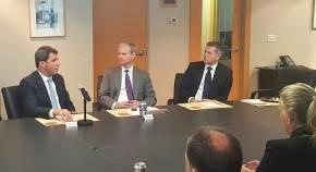 Sergio Uñac con integrantes del directorio del Consejo de las Américas