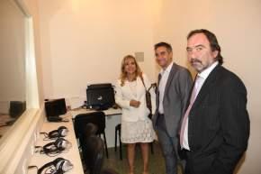 El intendente capitalino Franco Aranda con la Dra. Sirera