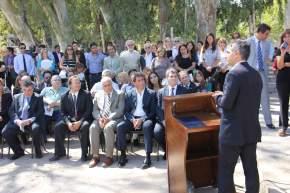 Dirige la palabra el intendente de Capital, Franco Aranda