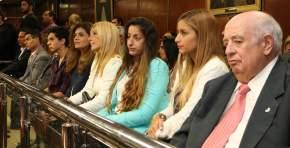 Participaron los familiares del vicegobernador Lima