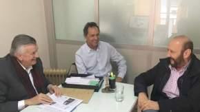 José Luis Gioja, Daniel Scioli y Gildo Insfrán, analizando el fallo de la Cámara Nacional Electoral