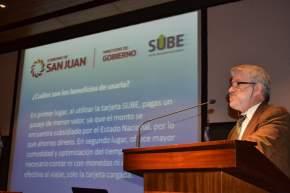 El director de Tránsito, Jorge Martín explicó cómo usar y cargar la SUBE
